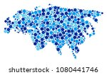 eurasia map collage of round... | Shutterstock . vector #1080441746