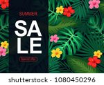 summer sale background with... | Shutterstock .eps vector #1080450296