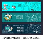 business concept banner for... | Shutterstock . vector #1080457358