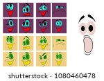 assembly of flat icons on theme ... | Shutterstock .eps vector #1080460478