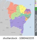 vector set of northeast region... | Shutterstock .eps vector #1080463235
