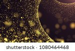 Gold Dust Particles Background