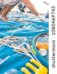 beach cleaning. cleaning dirty... | Shutterstock . vector #1080469745
