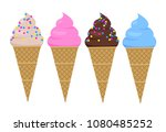 delicious multicolor ice creams ... | Shutterstock .eps vector #1080485252