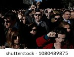 labor unions demonstrate during ...   Shutterstock . vector #1080489875