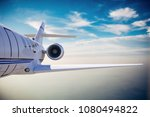 3d luxury private jet in the sky | Shutterstock . vector #1080494822