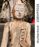Small photo of Bangkok Thai Land 04/2018 wat buddhaangkor templecambodiaasia buddhism thailand travel ancient architecture religion statue culture asian buddhist old stone sculpture landmark reap sie