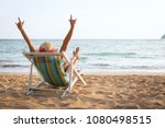 summer beach vacation concept ... | Shutterstock . vector #1080498515