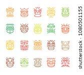 tiki totem colored smile... | Shutterstock .eps vector #1080501155