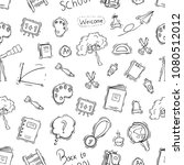 hand drawn or doodle style of... | Shutterstock .eps vector #1080512012