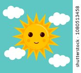 day illustrations with funny... | Shutterstock . vector #1080513458