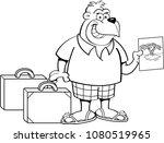 black and white illustration of ... | Shutterstock .eps vector #1080519965