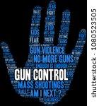 gun control word cloud on a... | Shutterstock .eps vector #1080523505