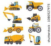 construction machinery vehicle... | Shutterstock .eps vector #1080527975