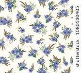 seamless folk pattern in small... | Shutterstock . vector #1080530405