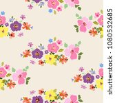 floral seamless pattern.... | Shutterstock .eps vector #1080532685