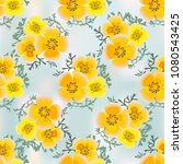 eshsholtsiya orange flowers... | Shutterstock .eps vector #1080543425