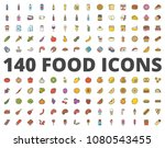 food colored icon pack raster... | Shutterstock . vector #1080543455