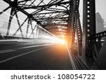 night traffic lights inside of... | Shutterstock . vector #108054722