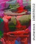 vector modern art abstract... | Shutterstock .eps vector #1080550112