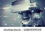 technology  augmented reality ... | Shutterstock . vector #1080559535
