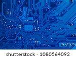 blue circuit board background... | Shutterstock . vector #1080564092
