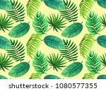 vector seamless tropical... | Shutterstock .eps vector #1080577355