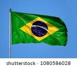 National Flag Of Brazil On A...
