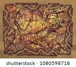 hunting of primitive people.... | Shutterstock . vector #1080598718