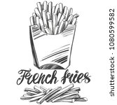 french fries   fastfood  logo ... | Shutterstock .eps vector #1080599582