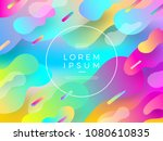 abstract vector multicolored... | Shutterstock .eps vector #1080610835