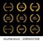 sport awards and best nominee... | Shutterstock .eps vector #1080631568