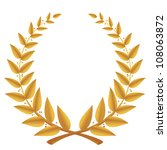 gold laurel wreath isolated ... | Shutterstock .eps vector #108063872