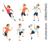 soccer characters playing... | Shutterstock .eps vector #1080639662
