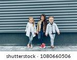 stylish fashionable girl team... | Shutterstock . vector #1080660506