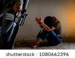 trafficked human traffickers.... | Shutterstock . vector #1080662396
