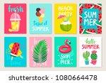 summer hand drawn calligraphyc...   Shutterstock .eps vector #1080664478