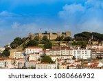 lisbon with castle | Shutterstock . vector #1080666932