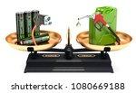 balance concept  electric car... | Shutterstock . vector #1080669188