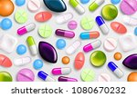 pills background. vitamin... | Shutterstock .eps vector #1080670232