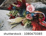 close up of colorful elegant... | Shutterstock . vector #1080670385