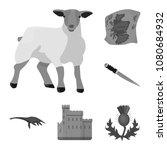 country scotland monochrome... | Shutterstock .eps vector #1080684932