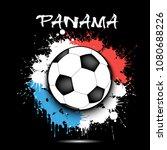 soccer ball against the... | Shutterstock .eps vector #1080688226