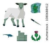 country scotland cartoon icons... | Shutterstock .eps vector #1080688412