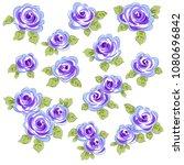 abstract flower illustration. | Shutterstock .eps vector #1080696842