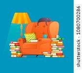 vector cozy living room... | Shutterstock .eps vector #1080700286