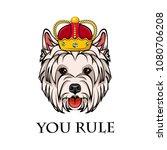 west highland white terrier... | Shutterstock .eps vector #1080706208