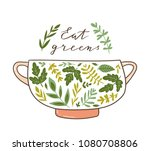 healthy food poster with text  '... | Shutterstock .eps vector #1080708806