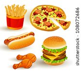 set with colorful vector fast... | Shutterstock .eps vector #108072686