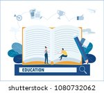 writer vector illustration.... | Shutterstock .eps vector #1080732062